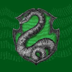 Pottermore Slytherin House Crest illustration