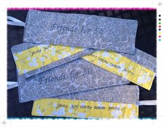 Not quite the headbands I usually sew but I had so much fun making these custom fabric headbands. Wow. 50 years of friendship!  (Find me on Facebook at Ahuva Penina Designs).