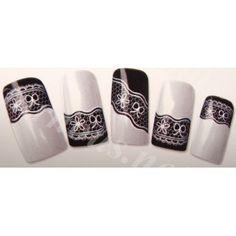 Stickers d'ongles Nail art Water decal dentelles et fleurs
