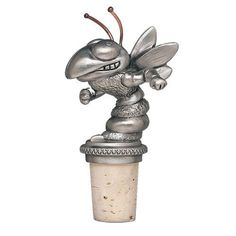 Heritage Metalworks Oklahoma State Cowboys Cone Shaped Metal Wine Bottle Stopper mascot