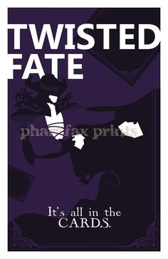 Twisted Fate: League of Legends Print por pharafax en Etsy