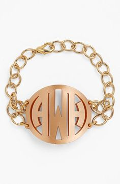 Love this monogrammed initials bracelet...