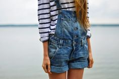 Overalls and striped shirt. Now this is something I would wear.