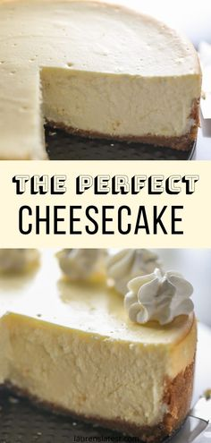 Literally the best cheesecake recipe ever. Seven simple ingredients. No water bath. No cracking ever. The only recipe you'll ever need! Cheesecake Recipe No Water Bath, Creamy Cheesecake Recipe, Cheescake Recipe, Best Cheesecake, Easy Cheesecake Recipes, Dessert Recipes, Cheesecake Bites, Banana Cheesecake, Strawberry Cheesecake