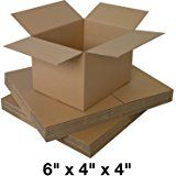 5 x small cardboard mailing packaging boxes - Size 6x4x4""