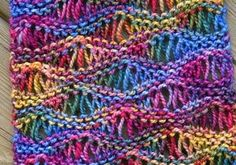 [Free Pattern] This Drop Stitch Scarf Looks Great In Variegated Yarn - Knit And Crochet Daily