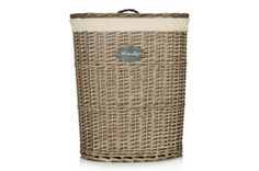 Natural Wicker Oval Laundry Bin