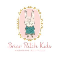 Premade Logo - Darling Rabbit Premade Logo Design - Customized with Your Business Name!