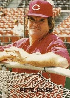 1987 New Reds Machine (unlicensed) Pete Rose Mlb Players, Baseball Players, Baseball Cards, Cincinnati Reds Baseball, Pete Rose, Star Wars, Trading Card Database, Hustle, Cowboys