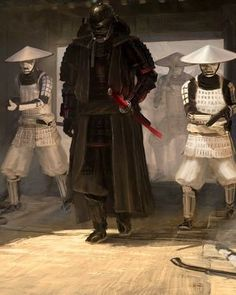 """Concept artist Patrik Rosandercreated this striking Samurai-inspired Star  Wars illustration called """"Lord Vader and His Troops."""" According to the  artist, he placed Darth Vader and the Stormtroopersin Japan with""""semi  historically accurate equipment."""" The scene you see here is also supposed  to payhomage to Vader's revealin Star Wars: A New Hope."""