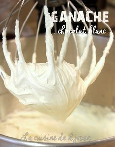 Ganache with white chocolate Chocolate Recipes, Hot Chocolate, Chocolate Ganache, Buckwheat Cake, Ganache Cake, Thermomix Desserts, Number Cakes, Salty Cake, Easy Cake Recipes
