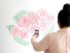 Fondo de flores de papel para comunión // Backdrop paper flower