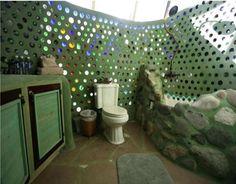 Construindo o Sustentável: Garrafas na parede