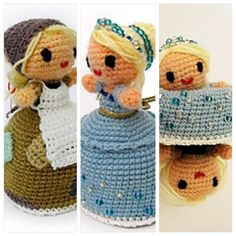 Rags to Riches, transformable Cinderella amigurumi. Free pattern on Ravelry!