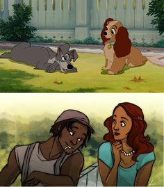 If Lady and the Tramp were human...