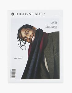 "ASAP Rocky is another artist that I follow and I enjoy his music. This is an issue of a magazine in which he modeled fashion for the cover. I also follow the account ""HIGHSNOBIETY"" on Instagram because I view the posts on high fashion so I figured it was relevant to note. Randomitus"