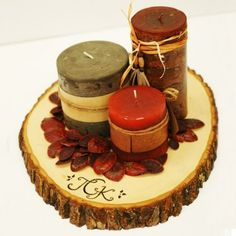 wooden centerpieces - Google Search