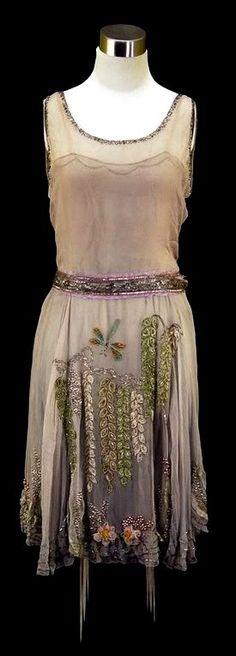 1920's beaded party dress                                                       …