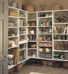 A walk-in pantry that I so much would love!