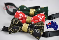 Father Son Match 100/% Cotton Xmas Christmas Elk Deer Red Bow Tie Bowtie