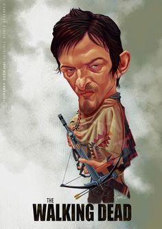 Caricatures | STROKES & SHAPES Norman Reedus