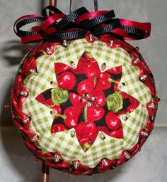 It is all about the cherries! ~ Custom made Fabric ornament