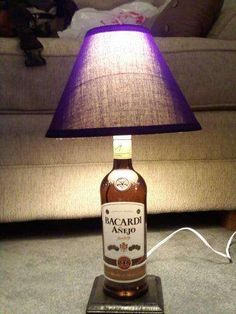 booze bottle lamp
