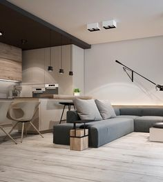 Home Designing — (via A Chic Pair Of Interiors With Natural Neutral...