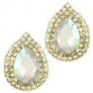 "#cybermonday #stockingstuffer #jewelry  Designer Inspired Crystal Post Earring / Clear Rhinestones / Gold Plated / Dimension: 1""w X 1 1/4""h LAN001,http://www.amazon.com/dp/B00BIP3OFY/ref=cm_sw_r_pi_dp_csnNsb00227SR4E5"