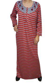 f3787b641b Indiatrendzs Women Nighty Wool Hosiery Red Grey Warm Long Nighty Chest -  44