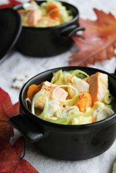 Cassolette de poisson au safran et petits légumes