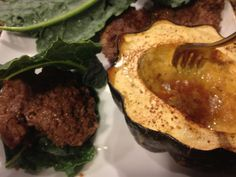 Cheesy-Buffalo Sliders & Baked Acorn Squash...fun fall meal