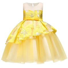 Girls Princess Flowers Ball Gown Weddings Dress Party Princess Dress Kids Clothes Girls Dresses For Christmas New Year Custumes Girls Party Dress, Wedding Party Dresses, Girls Dresses, Dress Party, Kids Outfits Girls, Girl Outfits, Princess Dress Kids, Embroidery Dress, Lace Dress