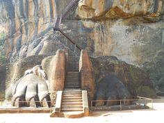 amazing entrance at Sigiria, Sri lanka