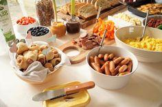 Brunch Buffet, Brunch Party, Muesli, Summer Recipes, Finger Foods, Nutella, Tapas, Bacon, Stuffed Mushrooms