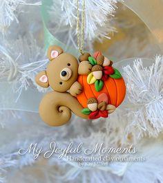 Polymer clay Halloween / Autumn / Thanksgiving ornament by Etsy seller My Joyful Moments.