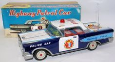 Highway Patrol Police Car made by Daito, Japan