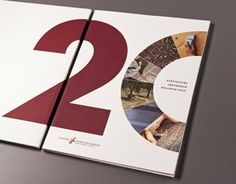 anniversary is the leading theme of this year's annual report of the Slovenian Insurance Association. Statistical information is accompanied by photographs depicting number 20 as barely visible component of our everyday life, like a symbol for carefr… 60 Year Anniversary, Company Anniversary, Anniversary Banner, Book Design Layout, Book Cover Design, Annual Report Covers, Buch Design, Design Graphique, Illustration