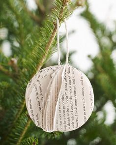 Sweet Paul Holiday Countdown: Day 13 - Upcycled Book Ornament