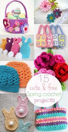 Whether the weather's still cold where you live or it's already warming, I'm sure you're ready for new and free crochet projects for spring. The net is full of great ideas and fun colors these days an