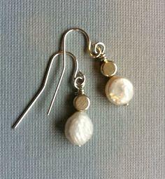 Pearls & Circles earrings