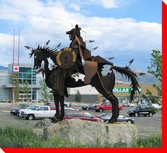 Westbank First Nation Man and Horse - West Kelowna, British Columbia,  #Luxury #Boutique B & B West Kelowna: www.lakeviewmemories.com