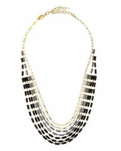 Ombre Crystal Bib Necklace by Greenbeads at Neiman Marcus Last Call.