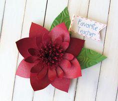 Teacher corsage made from Cricut Flower Shoppe