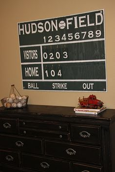 Scoreboard - for his room