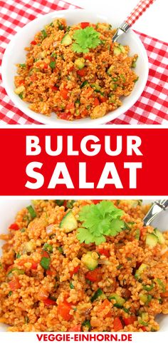 Schneller Bulgur Salat ▶ Super lecker ▶ Fast Turkish Bulgur Salad: The recipe is super tasty and super easy. The bulgur salad is seasoned with cumin (cumin). A great vegan salad that is always well received. Salad Recipes For Dinner, Chicken Salad Recipes, Healthy Salad Recipes, Vegetarian Recipes, Keto Recipes, Plats Healthy, Bulgur Salad, Couscous, Tofu