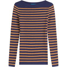 M i H Striped Wool Pullover (2.235 ARS) ❤ liked on Polyvore featuring tops, sweaters, stripes, stripe sweater, striped wool sweater, striped tops, wool pullover and striped pullover sweater