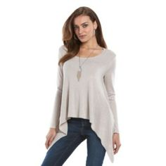 Women's Jennifer Lopez High-Low Scoopneck Sweater