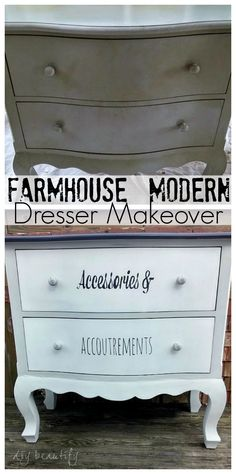 Dresser Upcycle with Labeled Drawers DIY beautify