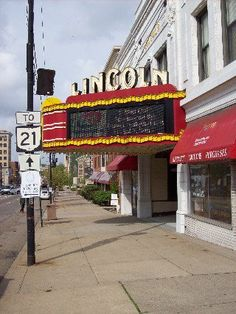"""My novel """"Hometown News"""" was originally going to be called """"Rust Belt."""" It takes place in a small industrial city with scenes like this. Lincoln Theater in downtown Massillon. Massillon Ohio, West Brook, Rust Belt, Ryan Homes, Canton Ohio, Outdoor Theater, History Photos, Old Pictures, New Construction"""